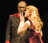 MURTHER: Lady Macbeth (Robin Goodrin Nordli) encourages Macbeth (Peter Macon) to stick to their plan.