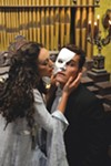 <b>MUSIC OF THE NIGHT</b> Carmen Mitchell and Ezra Hernandez rehearse a scene from 'Phantom of the Opera.'