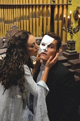 MUSIC OF THE NIGHT Carmen Mitchell and Ezra Hernandez rehearse a scene from 'Phantom of the Opera.' - TOM CHOWN