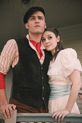 NEVER WALK ALONE Ezra Hernandez and Jennifer Mitchell star in Spreckels' 'Carousel.' - ERIC CHAZANKIN