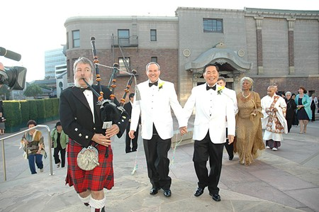 NEW NUPTIALS George Takei marries his partner Brad Altman in 2008.