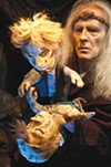 <b>NO DUMMY</b> Edgar sees his Mad Tom reflection as King Lear (Conrad Bishop) watches.