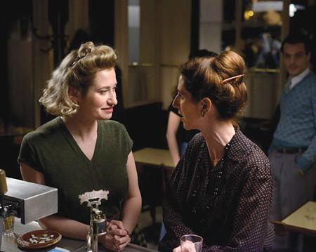 NOT SO GAY PAREE Emmanuelle Devos (left) plays Violette Leduc, a talented but marginalized contemporary of Albert Camus and Simone de Beauvoir.