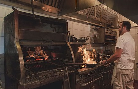 ON FIRE In addition to a larger dining room and new bar, K&L Bistro's kitchen expanded as well. - JOSHUONE BARNES
