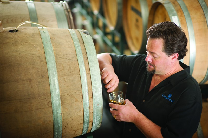 OUT OF THE BARREL Marko Karakasevic is a 13th-generation distiller in St. Helena who can't directly sell his own product. - COURTESY CHARBAY