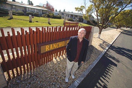 PASS IT ON Don McLeod outside Rancho San Miguel, where residents are shouldering a property-tax increase for the new owners. - MICHAEL AMSLER