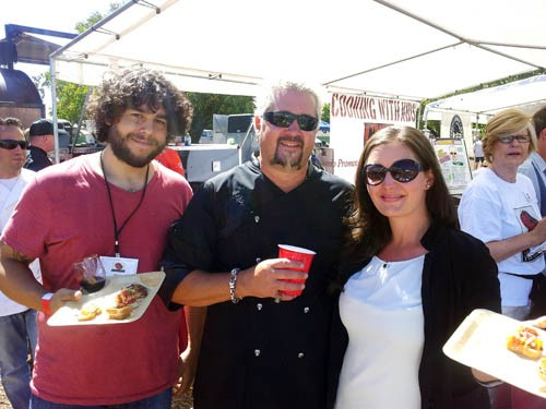 Perhaps I shall start a website called AwkwardPhotosWithCelebrities.com, beginning with this pic of Guy Fieri