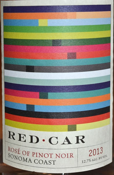 PINK WINE Red Car 2013 Sonoma Coast Rosé of Pinot Noir is a standout with its  lush nose of strawberry, pink rose, orange sherbet; maybe fresh sourdough. - JAMES KNIGHT