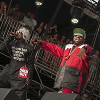BottleRock Napa Valley 2014 Recently re-united hip hop duo Outkast pumps up the massive crowd at BottleRock. Katie Stohlmann
