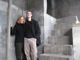GABE MELINE - RECLAIMED INDUSTRY Pat Lenz and Jordan Essoe on the steps to the killing floor.