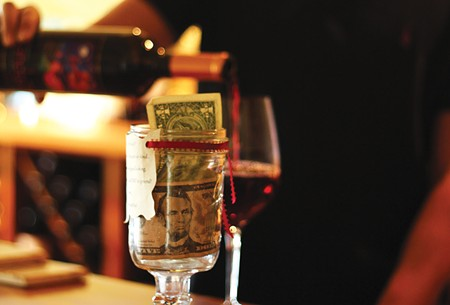 RUNNETH UNDER Harvest Moon's tasting-room tip jar is an aberration in the industry—but that may be changing (finally). - NADAV SOROKER