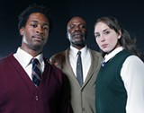 SCHOOLED: Lloyd Roberson II, L. Peter Callender and Laura Morachec o-star in 'My Children! My Africa!'