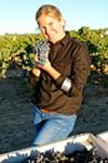 <b>SETTING THE RHONE</b> Jillian Johnson, with grapes