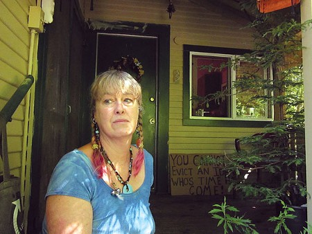 SHADY Deborah Kay says she has proof of 'robo-signed' loan documents for her Guerneville home. - LEILANI CLARK