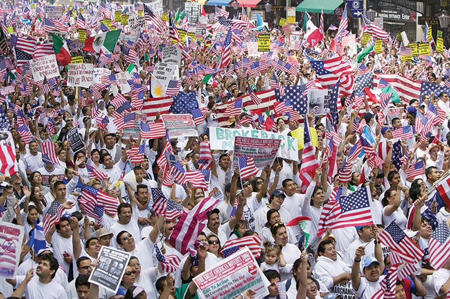SOMOS MIGRANTES Immigration reform continues to inspire huge rallies across the country, but neither Democrats nor Republicans have done much to support the issue.