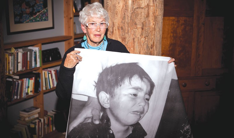 SPEAKING OUT At 78, Barbara Briggs-Letson traveled to the Middle East with a delegation opposed to U.S. drone policy. - SARA SANGER