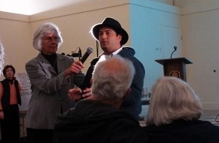Steve Burdo shares his concerns at Citizen Marin's forum on March 20. - KELLY O'MARA