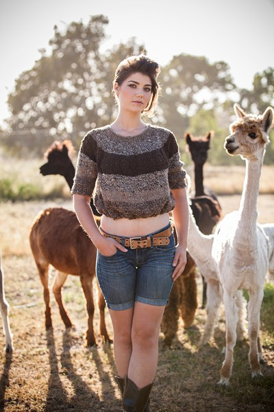 SWEATER BY HEIDI IVERSON, MADE FROM YARN BY MARY PETTIS-SARLEY - SARA SANGER