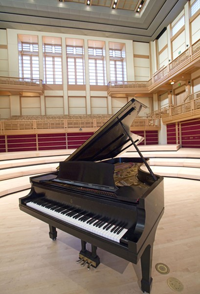 THE FINE WAY A nine-foot Steinway concert grand piano arrived at the hall via anonymous donor in 2009. - MICHAEL AMSLER