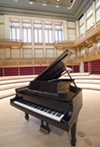 <b>THE FINE WAY</b> A nine-foot Steinway concert grand piano arrived at the hall via anonymous donor in 2009.