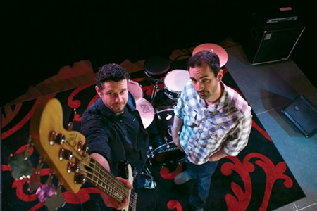 THE HOT SPOT Ben Stephens and Nate Prowse of Live Musicians Co-op, where over 40 bands rehearse each week. - JENNY COOPER
