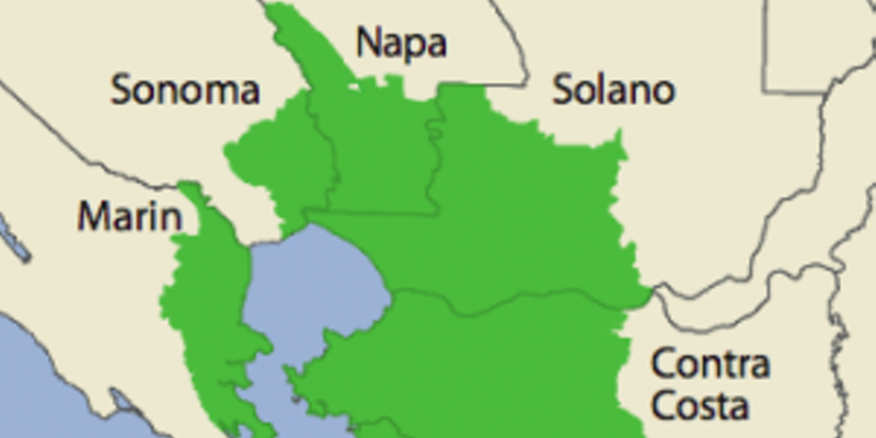 """The North Bay """"Area of Concern"""" is depicted in green."""