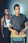 <b>THREE-CARD MONTE</b> Bowman Wright and Biko Eisen-Martin co-star in 'Topdog/Underdog.'