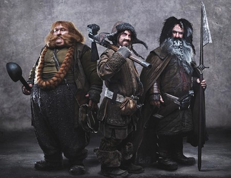 TRAIPSING TRIO Bombur, Bofur and Bifur in Peter Jackson's nearly three-hour film.