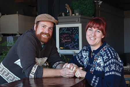 TWO COOKS Husband and wife Josh Norwitt and Miriam Donaldson opened Wishbone in the former Three Cooks Cafe space in Petaluma. - MICHAEL AMSLER