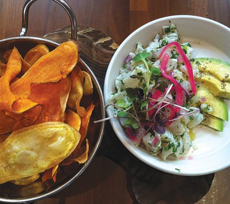 SEE FOOD Ceviche is one of the standouts from chef Kory Stewart. - FLORA TSAPOVSKY