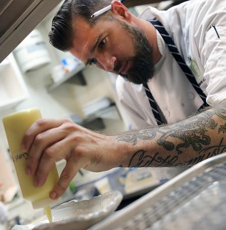 FOOD FOCUSED Jamil Peden calls his style of cooking 'interpretative American.' - RORY MCNAMARA