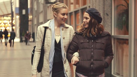SILLY IN THE CITY Greta Gerwig, left, co-wrote 'Mistress America' with director Noah Baumbach.