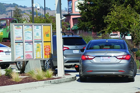 MAY I TAKE YOUR ORDER? Customers don't seem to mind the wait at Amy's Drive Thru. - MICHAEL AMSLER