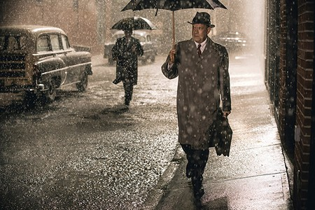 DARK AND STORMY NIGHT Tom Hanks shines as a lawyer caught up - in Cold War intrigue.