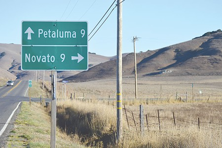WHERE TO?  Novato and Petaluma have emerged as key players in the North Bay's economy. - TOM GOGOLA