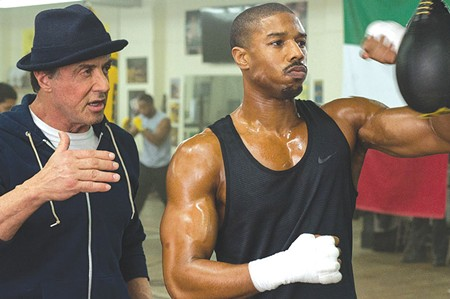 THE CHAMP 'Imagine it's a Trump piñata' is probably not Sylvester Stallone's coaching advice in latest 'Rocky' sequel.