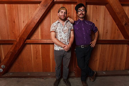 BFFS Joshua Jackson, left, recruited his longtime friend Kalei Yamanoha for his new band.