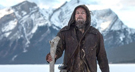 THE WINNER IS...? Best Bear Fight isn't an Oscar category, but Leonardo DiCaprio makes a case for it.