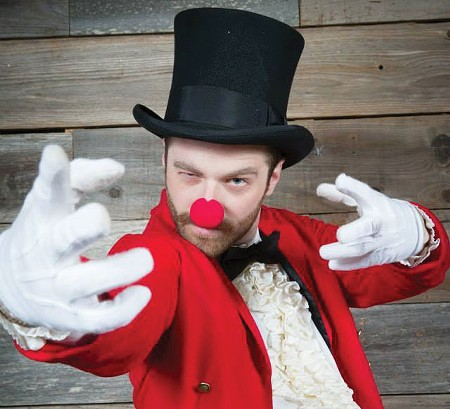 RINGMASTER Jake Ward presents the high-flying Circus Maximus this weekend. - JAMI LEIGH