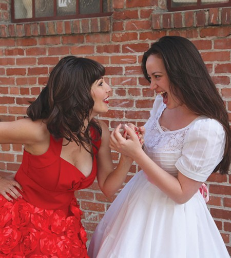 SHARK VS. JET Erica Lamkin, left, and Mindy Lym square off in 'West Side Story.' - PHOTO COURTESY MOUNTAIN PLAY