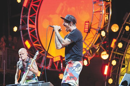 RED HOT  Despite a recent bout of intestinal flu, Anthony Kiedis and the Red Hot Chili Peppers closed out BottleRock with a bang.
