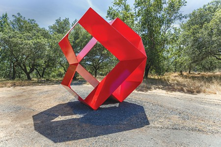 GEOMETRIC WONDER  'Big Joe,' by sculptor Peter Forakis, is one of several pieces on display the Voigt Family Sculpture Foundation's upcoming show in Santa Rosa. - JEFF KAN LEE