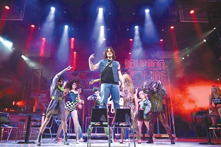 HE'S NOT GONNA TAKE IT Drew (Nate Stuckey) sings of requited love in 'Rock of Ages.' - TOM CHOWN