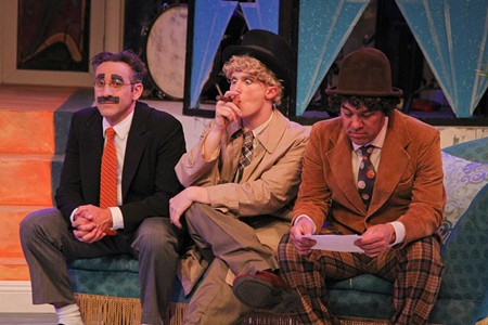GOING CRACKERS: (L to R) Jeff Coté as Groucho, Eric Weiss as Harpo, David Yen as Chico - ERIC CHAZANKIN