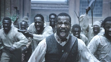 UPRISING  Nate Parker (center) is excellent in this powerful film about - slave rebel Nat Turner.
