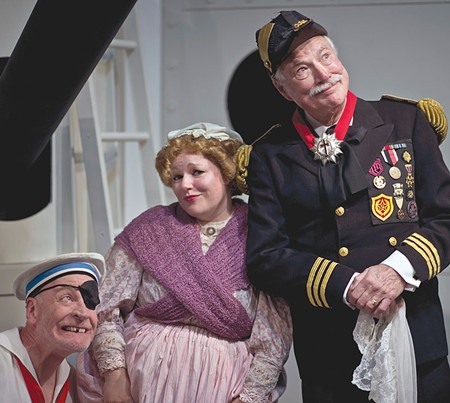 SHIPSHAPE Norman Hall (right) plays the Right Honorable Sir Joseph Porter in Ross Valley Players' 'H.M.S Pinafore.' - ROBIN JACKSON