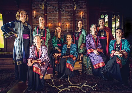 WINTER SONGS  Women's vocal ensemble Kitka perform their popular holiday program of Eastern European–inspired music on Dec. 10 in San Rafael. - LOUIS CARRELLA