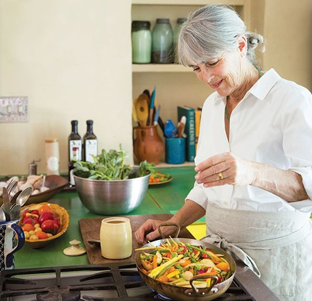 VEG ED  Vegetarian cooking doyenne Deborah Madison appears at one of the Spinster Sisters' - author events this month.