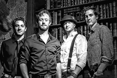WORKING CLASS HEROES  Billy Kingsborough (second from left) and his band draw on classic blues-rock for new album.
