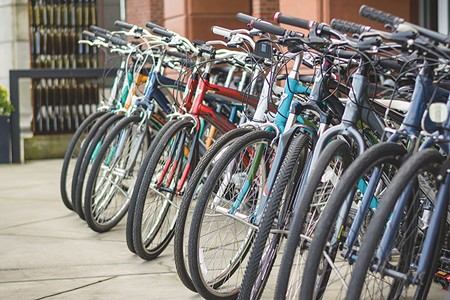 READY TO ROLL  All these bikes want is a day on a nice trail with a happy rider smiling as they cycle town to town.